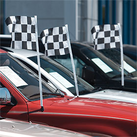 Checkered Race Flag Antenna Pennants