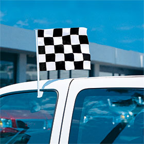 Economy Checkered Race Clip-On Flag Kit