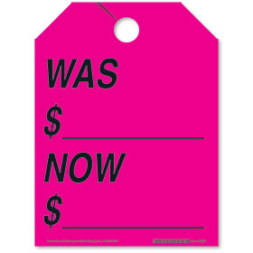 Pink Was - Now Fluorescent Rear View Mirror Tags