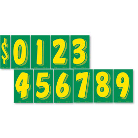 7.5 Windshield Pricing Numbers Kit - Green & Yellow