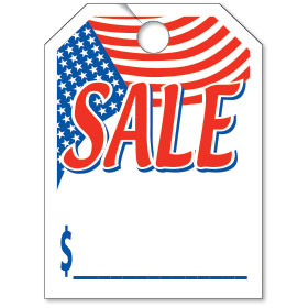 American Flag Sale Bright Rear View Mirror Tags