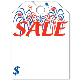 Firework Sale Bright Rear View Mirror Tags