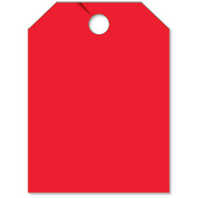 Blank Mirror Hang Tags - Red