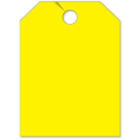 Blank Mirror Hang Tags - Yellow