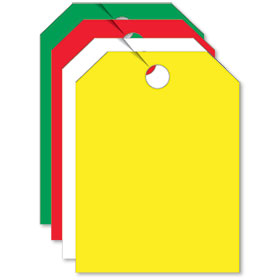 Combo Blank Mirror Tags - Non-Fluorescent