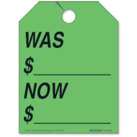 Was/Now Rear View Mirror Tags - Fluorescent Green