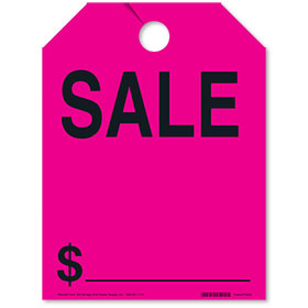 Pink SALE Fluorescent Rear View Mirror Tags