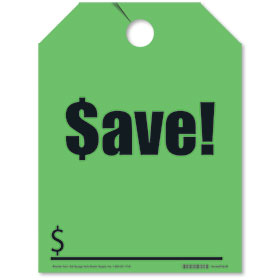 SAVE Rear View Mirror Tags - Fluorescent Green