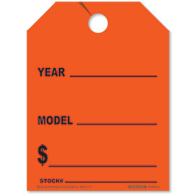 Car Year-Model Mirror Hang Tags - Fluorescent Red