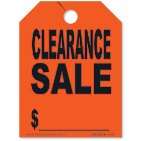Red Clearance Sale Fluorescent Rear View Mirror Tags