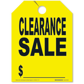 Clearance Sale Mirror Hang Tags - Fluorescent Yellow