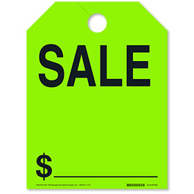 SALE Rear View Mirror Tags - Fluorescent Green