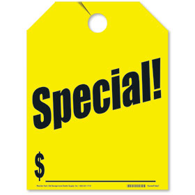 Yellow Special! Fluorescent Rear View Mirror Tags