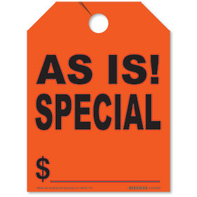 As-Is Special Rear View Mirror Tags - Fluorescent Red