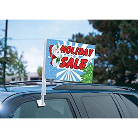Santa Holiday Sale Clip On Flag