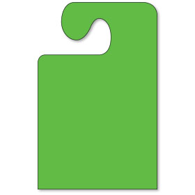 Wide Hook Mirror Tags - Fluorescent Green