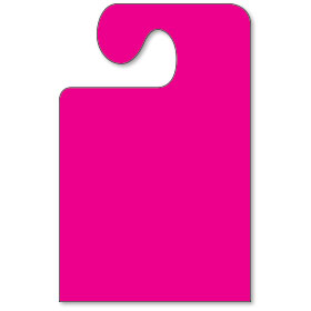 Wide Hook Mirror Tags - Fluorescent Pink