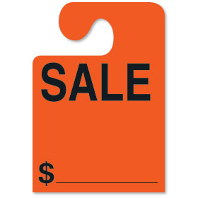 SALE Mirror Tags with Hook - Fluorescent Red
