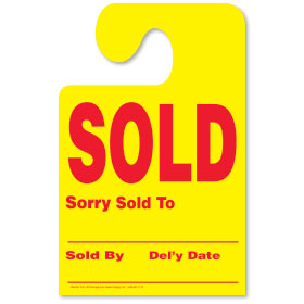 SOLD Mirror Tags with Hook - Fluorescent Yellow