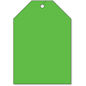 Rear View Mirror Tags - Jumbo Fluorescent Green