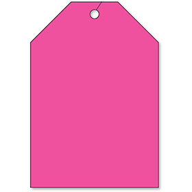 Jumbo Rear View Mirror Tags - Fluorescent Pink