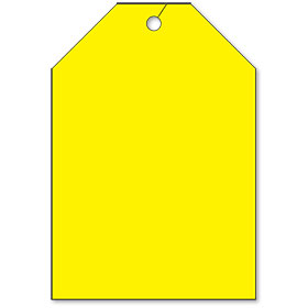 Rear View Mirror Tags - Jumbo Fluorescent Yellow