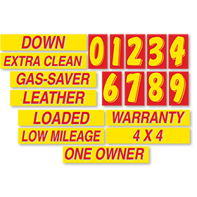 Red and Yellow Windshield Promotion Kit