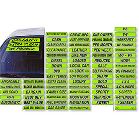 Windshield Slogans - Chartreuse & Black