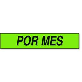 Por Mes - Black and Chartreuse Windshield Slogans