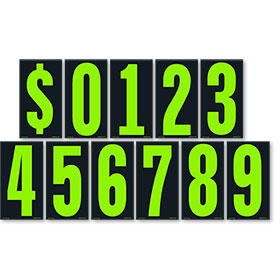 Chartreuse and Black 5 1/2 inch Pricing Number Kit