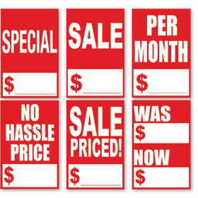 Quick Sale Stickers - Red & White