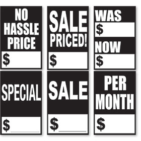 Black and White Quick Sale Stickers
