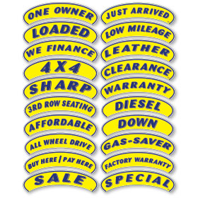 Blue and Yellow Arch Stickers