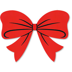 Holiday Bow Windshield Sticker