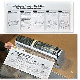 Adhesive Floor Mat Applicator Board