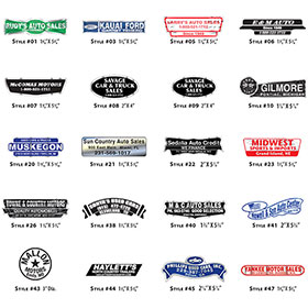 Available Decal Styles