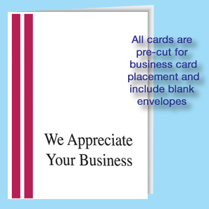 Dealership appreciation card dealer thank you cards for We appreciate your business cards