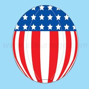 American Flag Reusable Balloon
