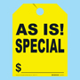 As Is Special Fluorescent Yellow Rear View Mirror Tags