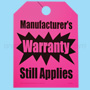 Manufacturer's Warranty Fluorescent Pink Vehicle Rear View Mirror Tag