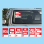 Red and White Quick Sale Stickers