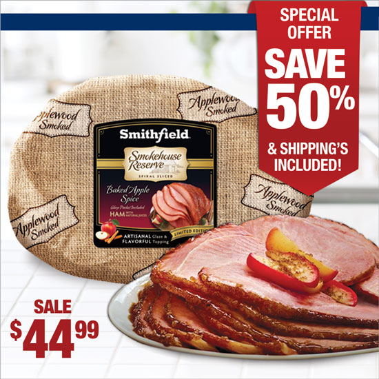 Apple Spice Glaze Half Spiral Ham - Smithfield Marketplace