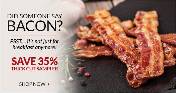 Thick Cut Bacon Sampler Sale Save 35%  - Smithfield Marketplace