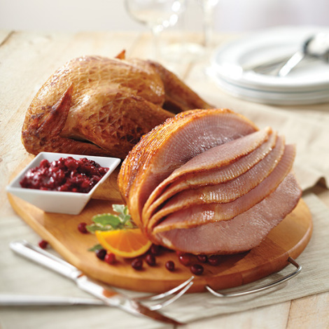 Half Spiral Ham & Whole Peppered Smoked Turkey Combo - SPECIAL PURCHASE