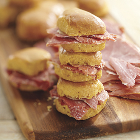 Country Ham Slices & Sweet Potato Biscuits