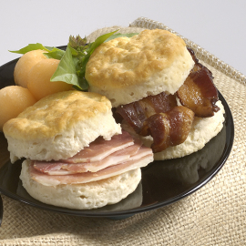 Ham & Bacon Breakfast Biscuit Kit, close up - Smithfield Marketplace