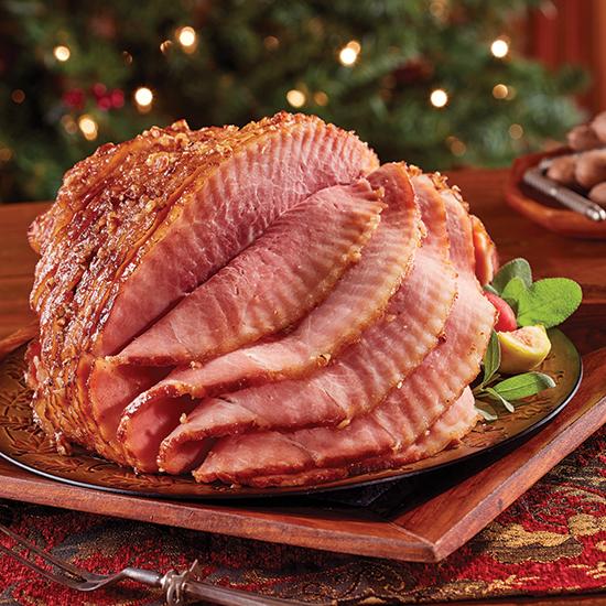 Hickory Smoked Spiral Ham with Pecan Praline Glaze Pack