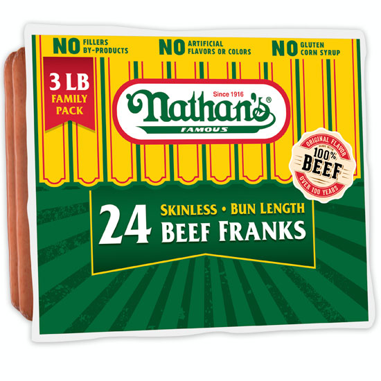 Nathan's Famous Hot Dogs - 3 lb. Pack