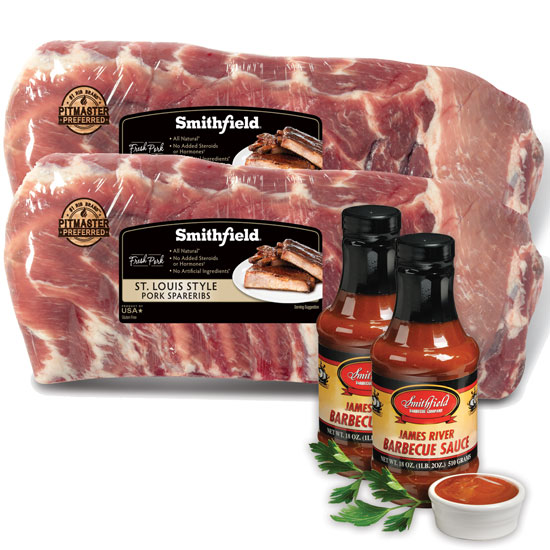 Smithfield St. Louis Ribs and James River BBQ Sauce
