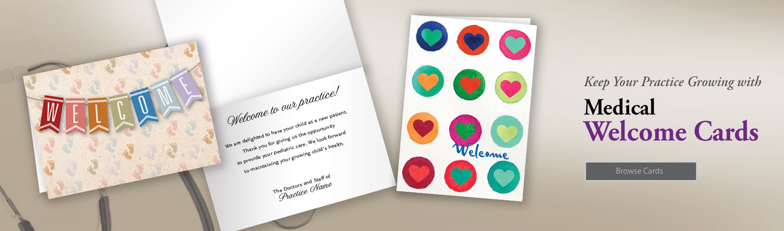 Medical Welcome Cards